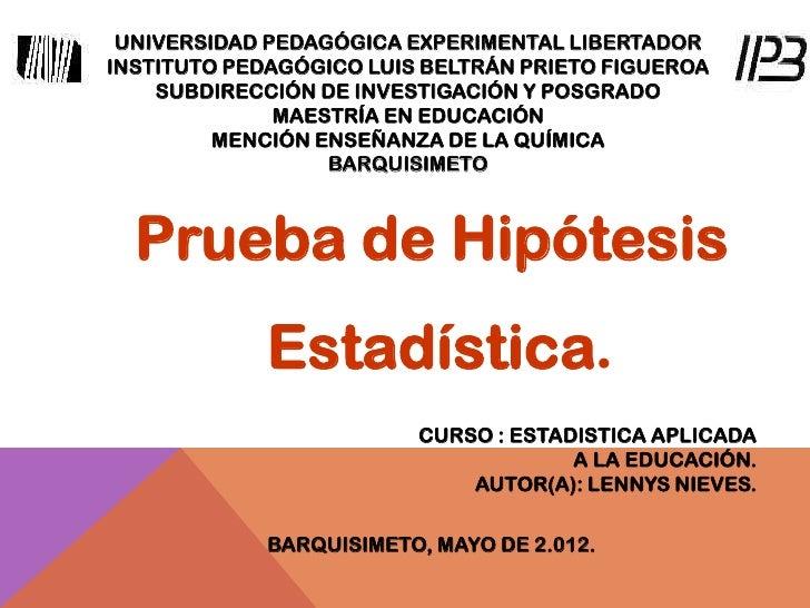 UNIVERSIDAD PEDAGÓGICA EXPERIMENTAL LIBERTADORINSTITUTO PEDAGÓGICO LUIS BELTRÁN PRIETO FIGUEROA    SUBDIRECCIÓN DE INVESTI...