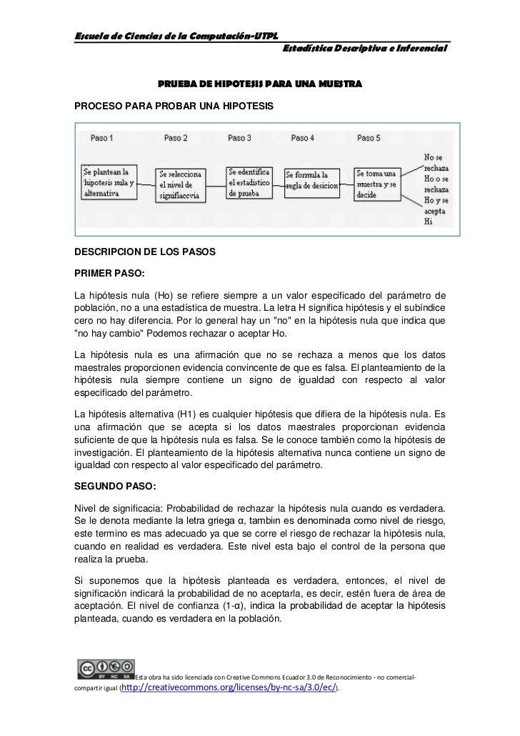 PRUEBA DE HIPOTESIS PARA UNA MUESTRA<br />PROCESO PARA PROBAR UNA HIPOTESIS<br />DESCRIPCION DE LOS PASOS<br />PRIMER PASO...