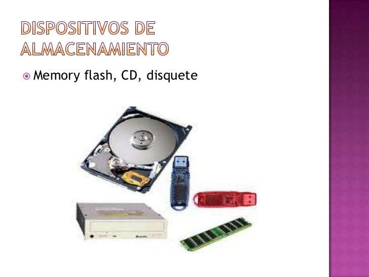  Memory   flash, CD, disquete