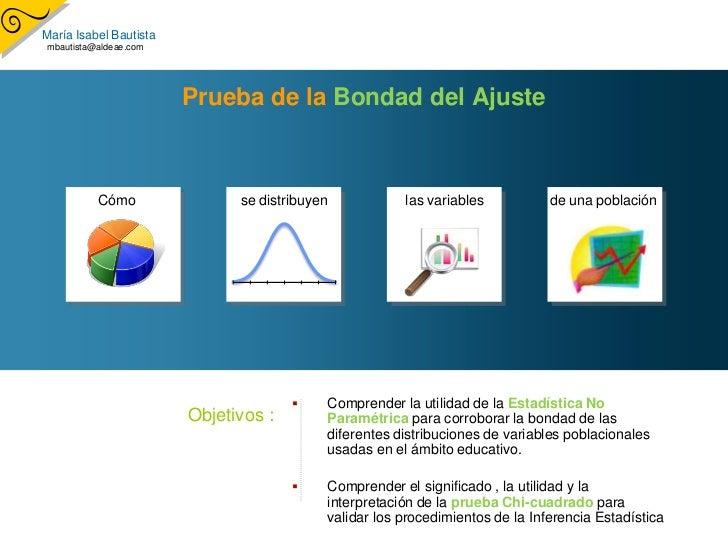 María Isabel Bautista  mbautista@aldeae.com                             Prueba de la Bondad del Ajuste               Cómo ...