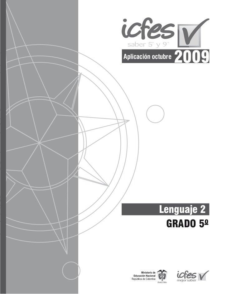 Aplicación octubre                     2009             Lenguaje 2              GRADO 5º