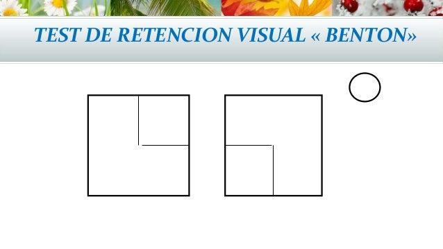 test de retencin visual de benton