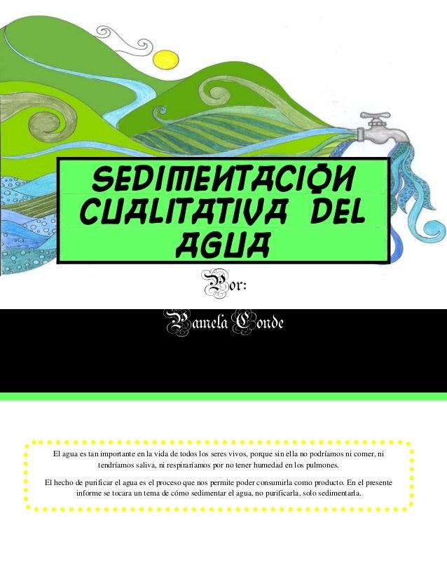 Sedimentacion          cualitativa del               agua                                      Por:                       ...