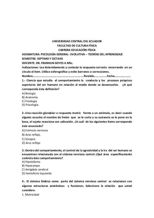 Excelente Anatomía Y Fisiología Prueba Opinión Fotos - Anatomía de ...