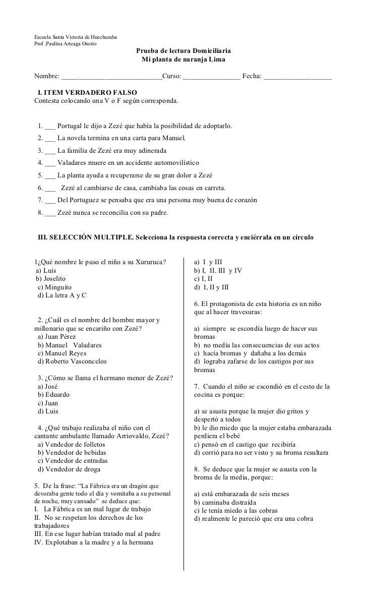 Escuela Santa Victoria de HuechurabaProf .Paulina Arteaga Osorio                                       Prueba de lectura D...