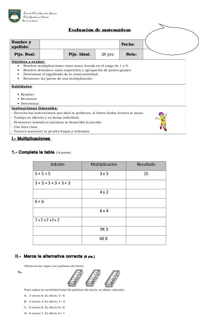 Prueba multiplicacion division for Div p