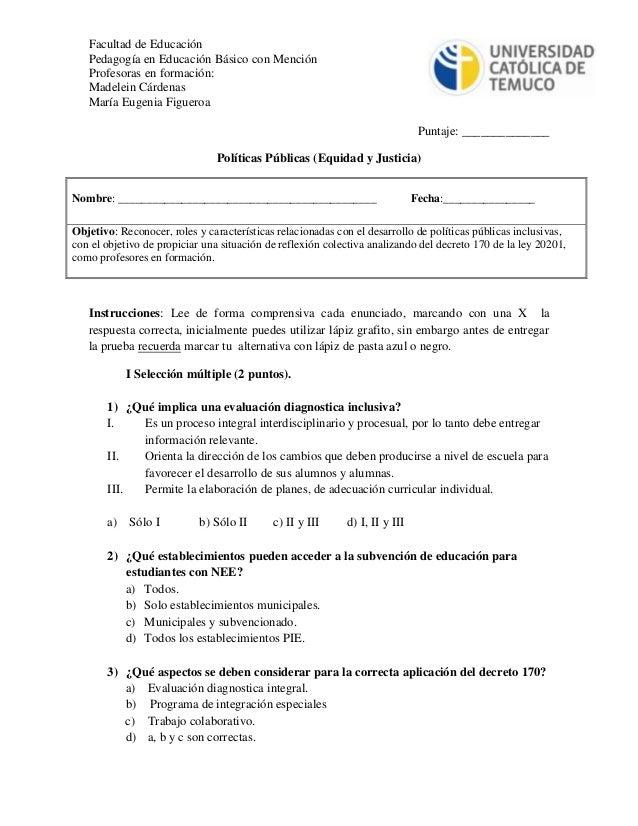 Facultad de Educación Pedagogía en Educación Básico con Mención Profesoras en formación: Madelein Cárdenas María Eugenia F...