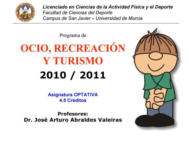 Licenciado en Ciencias de la Actividad Física y el Deporte      Facultad de Ciencias del Deporte      Campus de San Javier...