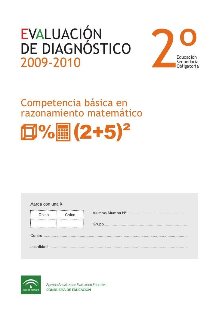 2ºEVALUACIÓNDE DIAGNÓSTICO2009-2010                                                                                       ...