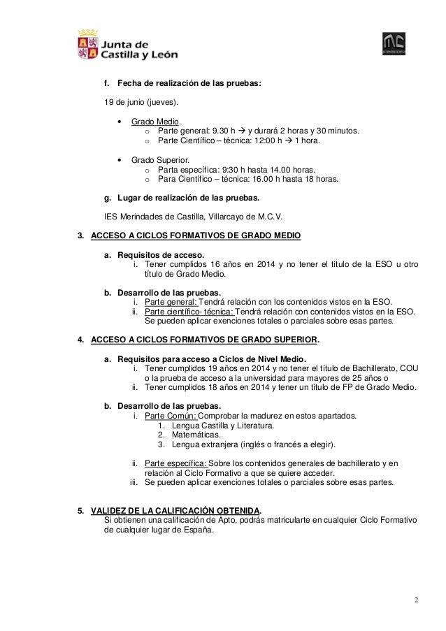 Pruebas De Acceso Directo A Ciclos De Formación Profesional