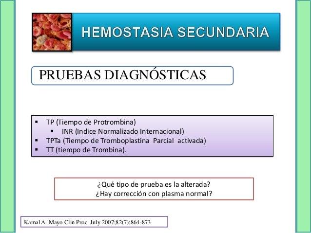 ¿Paciente con clínica de hemorragias tardías?         DEFICIENCIA DE FACTOR                  XIII   Prueba con Urea 5 Mol...