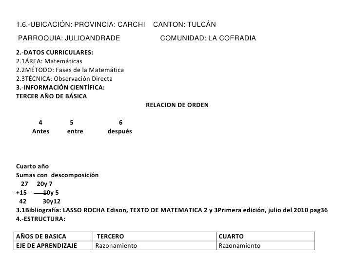 1.6.-UBICACIÓN: PROVINCIA: CARCHI          CANTON: TULCÁNPARROQUIA: JULIOANDRADE                      COMUNIDAD: LA COFRAD...