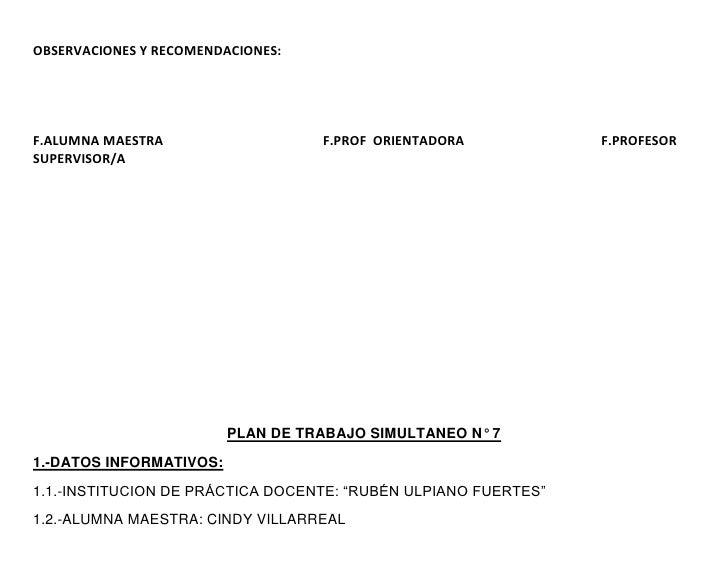 OBSERVACIONES Y RECOMENDACIONES:F.ALUMNA MAESTRA                   F.PROF ORIENTADORA           F.PROFESORSUPERVISOR/A    ...
