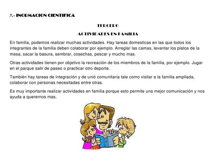 3.- INORMACION CIENTIFICA                                             TERCERO                                   ACTIVIDADE...