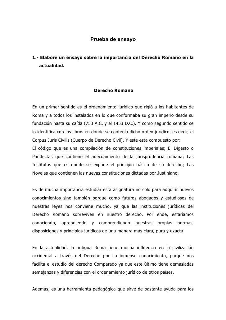 Matrimonio En El Derecho Romano Utpl : Pruebas de ensayo utpl