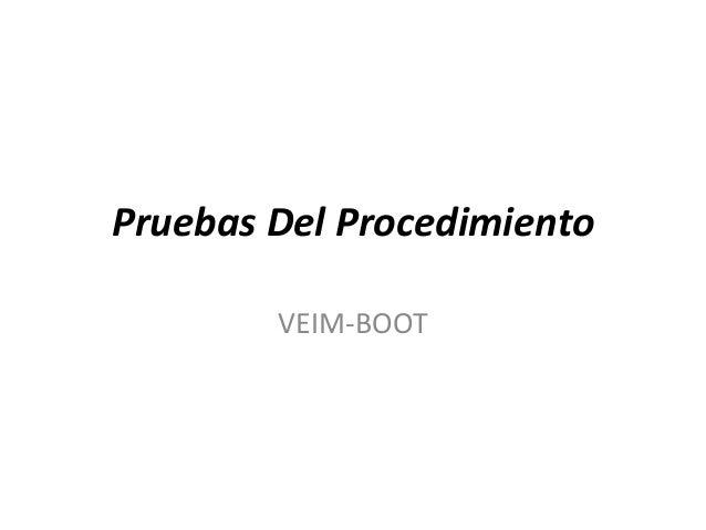 Pruebas Del ProcedimientoVEIM-BOOT