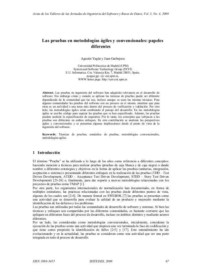 Actas de los Talleres de las Jornadas de Ingeniería del Software y Bases de Datos, Vol. 3, No. 4, 2009 ISSN 1988-3455 SIST...