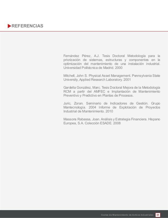 31 Fernández Pérez, A.J. Tesis Doctoral Metodología para la priorización de sistemas, estructuras y componentes en la opti...