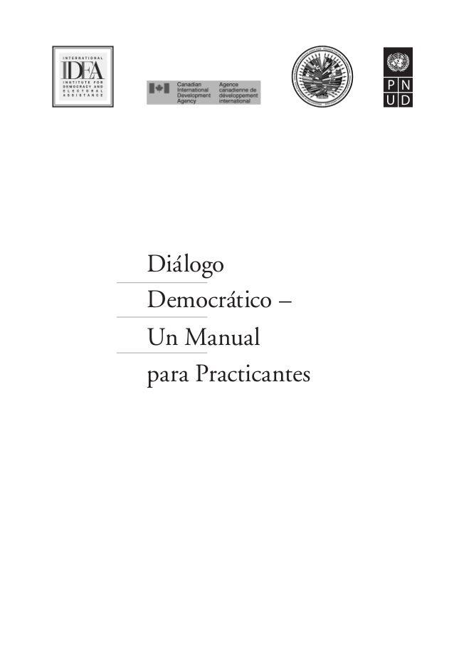 Diálogo Democrático – Un Manual para Practicantes