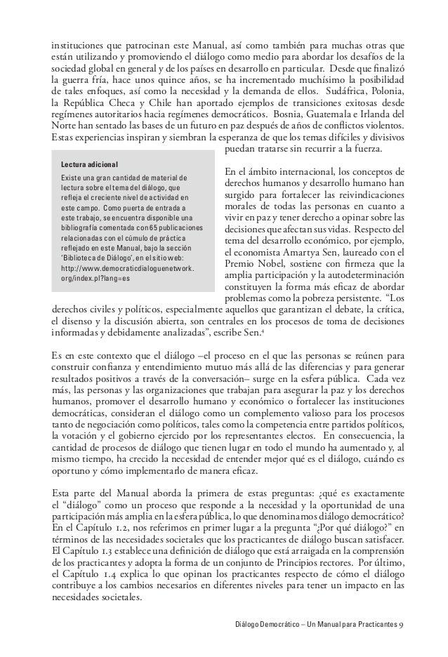 Diálogo Democrático – Un Manual para Practicantes  instituciones que patrocinan este Manual, así como también para muchas ...