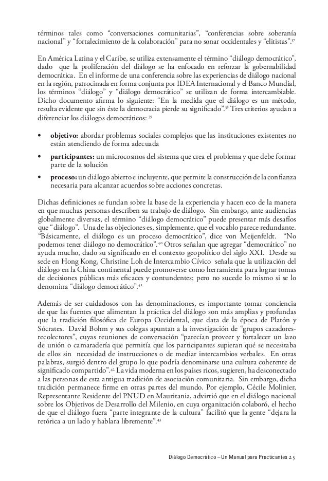Diálogo democrático: um manual para practicantes