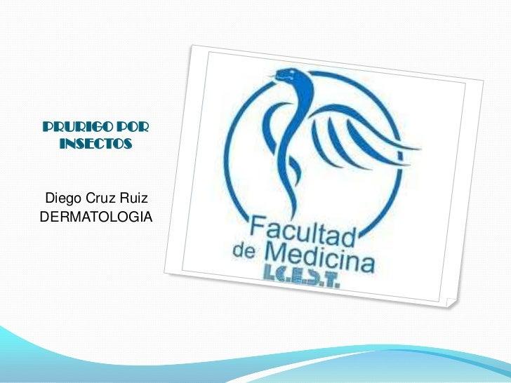 PRURIGO POR   INSECTOS   Diego Cruz Ruiz DERMATOLOGIA