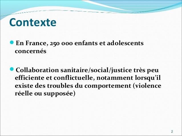 Prévalence des troubles mentaux  en milieux socio éducatif Slide 2