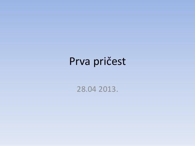 Prva pričest28.04 2013.