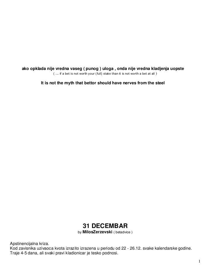 Prva slova kladjenja (CAPPSPORTS) Slide 2