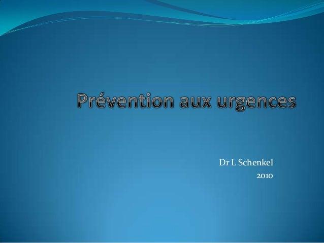 Dr L Schenkel2010