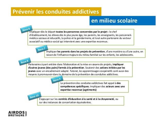 pr u00e9vention des conduites addictives milieu scolaire