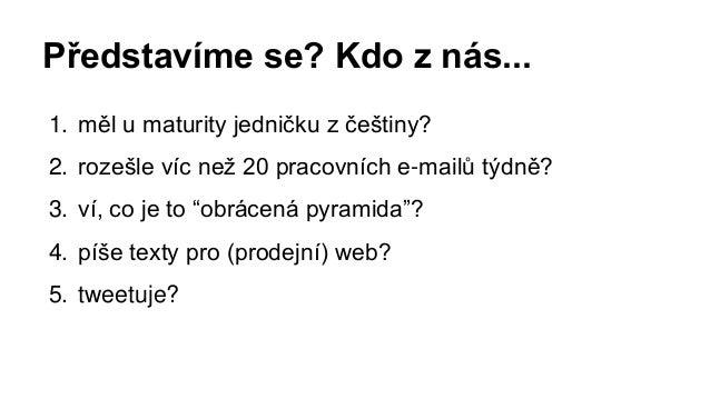 Copyholky z H1.cz: První středa v Brně o copywritingu Slide 2