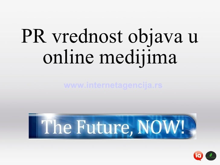 PR vrednost objava u online medijima www.internetagencija.rs