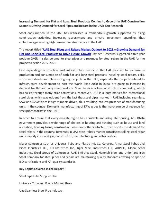 Regional Demand Steel Pipe Uae, Market Growth Steel Pipe Uae