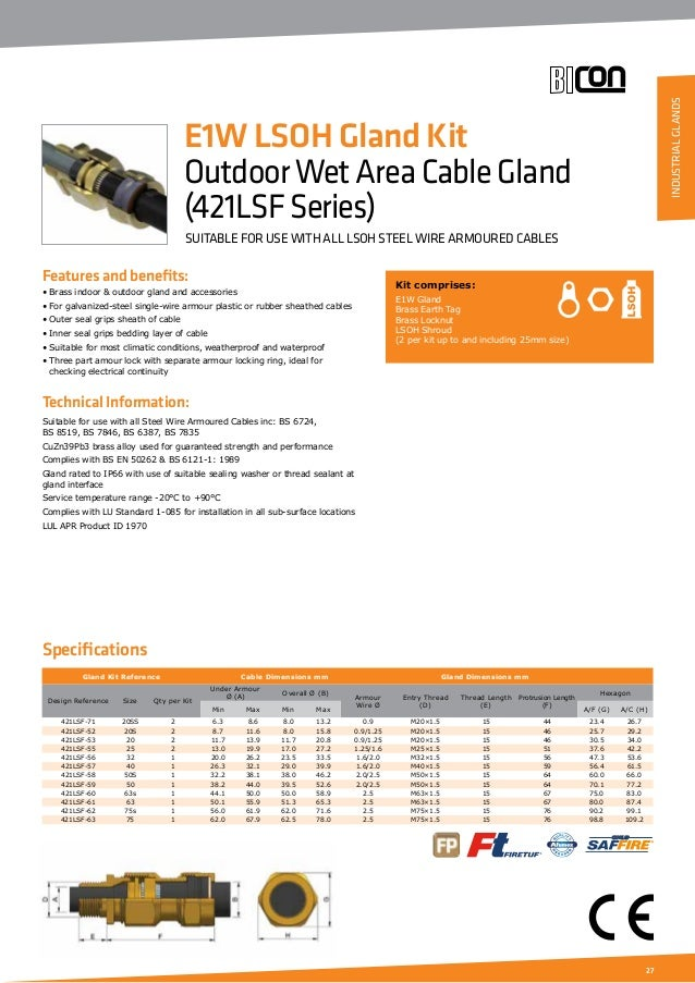 electrical cable size and gland size pdf