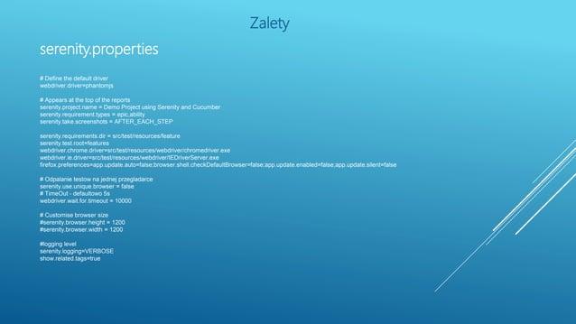 Zarządzanie screenshotami – jedno ustawienie i gotowe serenity.take.screenshots FOR_EACH_ACTION BEFORE_AND_AFTER_EACH_STEP...