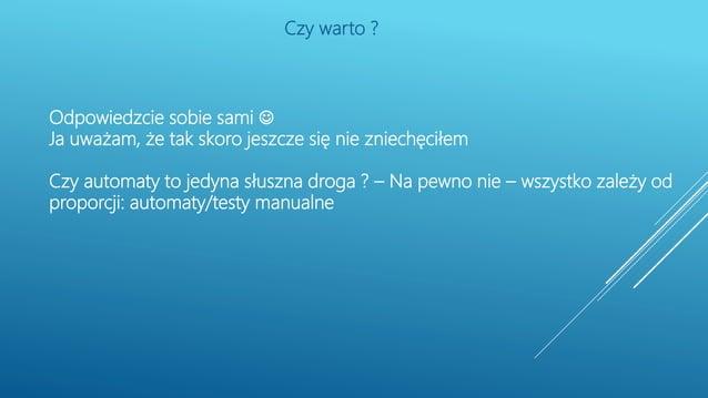 Dziekuję za uwagę Przemysław Biesek przemyslaw.biesek@gmail.com