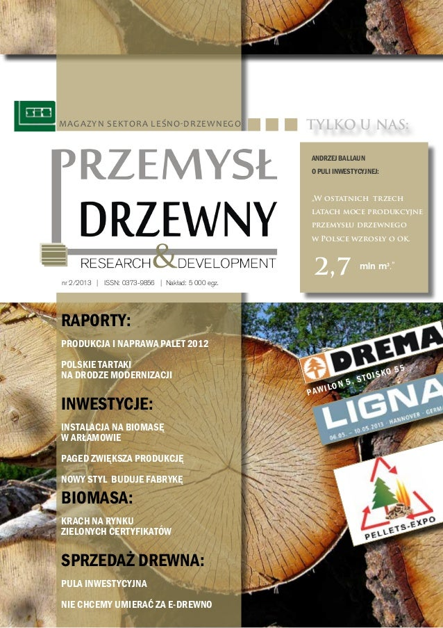 """Magazyn sektora leśno-drzewnego  TYLKO U NAS: Andrzej Ballaun o PULI INWESTYCYJNEJ: """"W ostatnich trzech latach moce produk..."""