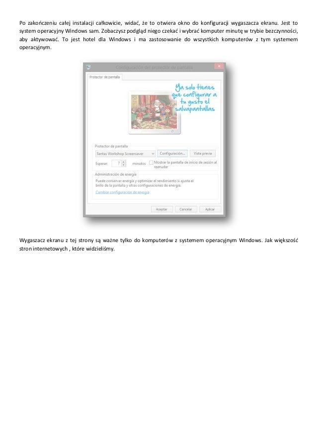 Przewodnik pobrania i instalacji wygaszaczy ekranu Slide 3