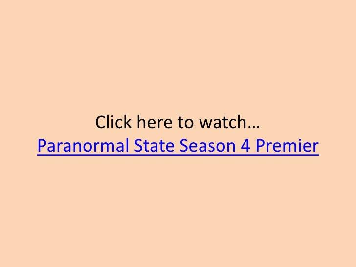 Paranormal State Season 4 Premier Paranormal State Season