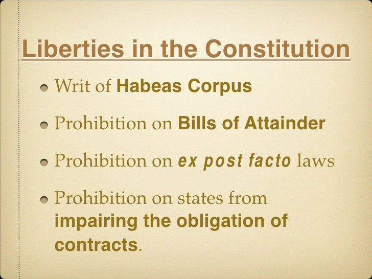 """habeas corpus the ultimate writ of liberty essay The writ of habeas corpus research paper and essay charlie potter american government june 2, 2009 mr potter part 1 - habeas corpus research paper """"by this action we should call him king lincoln i"""" - anti-war democrats, 1863 introduction english in origin, the concept of habeas corpus literally means """"that you have the body,"""" meaning that the court can force the police to produce a prisoner before them for review of their case."""