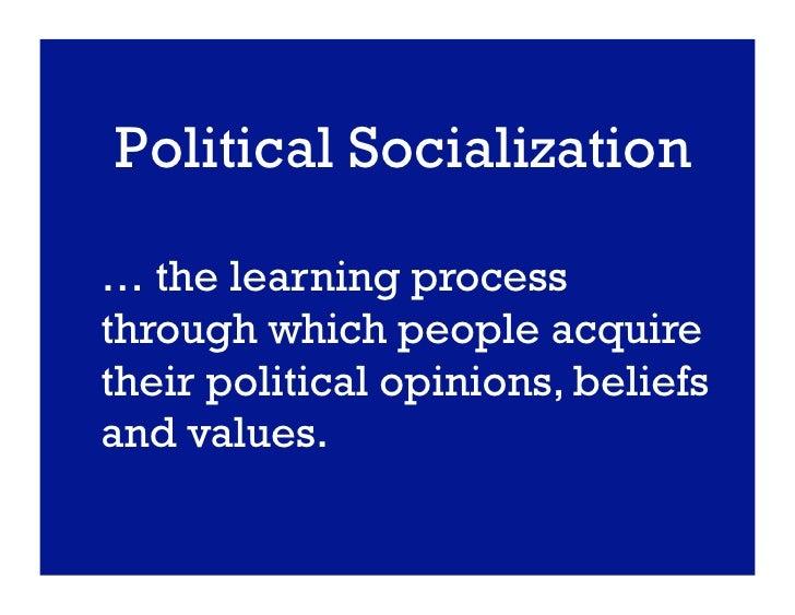 process of political socialization