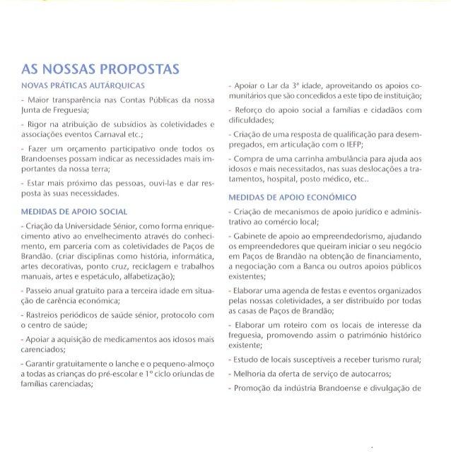 Programa eleitoral do PS em Paços de Brandão 2013