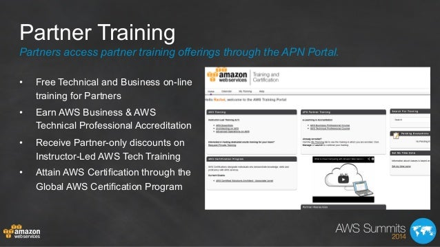 Partner Training • Free Technical and Business on-line training for Partners • Earn AWS Business & AWS Technical Profess...