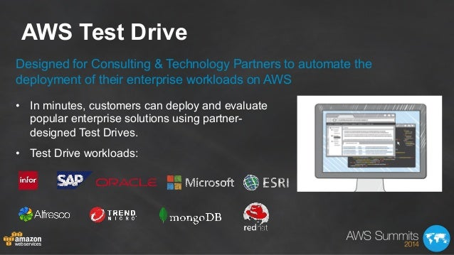 AWS Test Drive Designed for Consulting & Technology Partners to automate the deployment of their enterprise workloads on A...