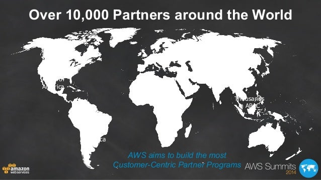 Over 10,000 Partners around the World Thousands in North America 1000+ in Latin America 1000+ in EMEA Thousands in APAC AW...