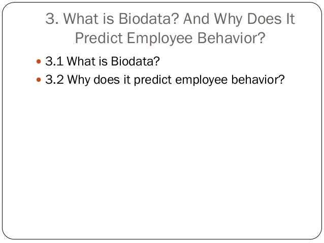 what is biodata