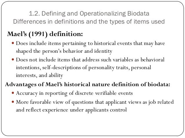 types of bio data