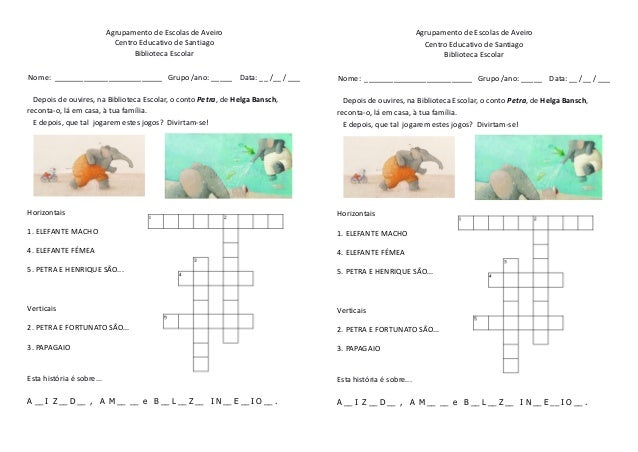 Agrupamento de Escolas de Aveiro Centro Educativo de Santiago Biblioteca Escolar  Agrupamento de Escolas de Aveiro Centro ...