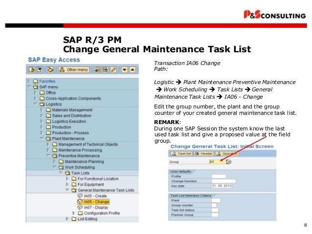 ps sap pm maintenance planning